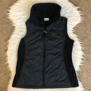 Columbia black puffer fleece vest